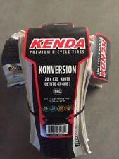 "2 pack Kenda Konversion BMX tire 20x1.75""  K1079 Foldable White Skinwall"