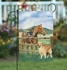 NEW Toland - Pets of a Pasture - Cute Barnyard Farm Horse Cat Dog Garden Flag
