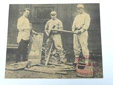 Honus Wagner Vintage Louisville Slugger Hillerich & Bradsby 10 x 8 Ad Sign Hof