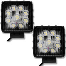 2x New Design 27W Square Work LED Light Fog Spot Bead Bar Lights For ATV UTV L7