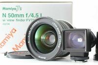 【BRAND NEW UNUSED BOX】 Mamiya N 50mm f/4.5 L for Mamiya 7 7II Finder Japan #815