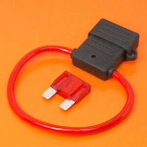 High Quality Maxi Blade Fuse Holder with 50 Amp Red Fuse Car Van Boat Fuses
