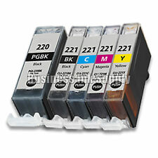 5 PACK New Ink Set for Canon CLI-221 PGI-220 Pixma MP990