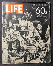 1969 Dec 26 LIFE Magazine '60s Decade of Tumult & Change GD+ 2.5 Beatles Snoopy