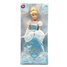Disney Store CINDERELLA Classic Doll Princess Toy Blue Gown Glass Slippers 12""