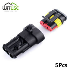 3 Pins Waterproof Electrical Cable Wire Connector Vehicles Plug Terminal X5 1F6