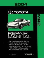OEM Repair Maintenance Shop Manual Bound for Toyota Mr-2 Volume 1 Of 2 2004