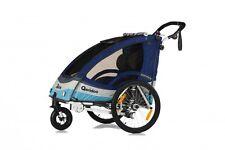Qeridoo Bike child trailer SPORTREX 2 Bicycle blue Sportrex2 2017