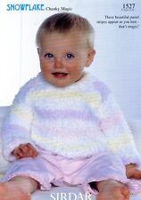 417d77091a8a Sirdar Snowflake Chunky Magic Knitting Pattern 1527 Baby Kids Sweater  Nb-6yrs