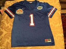 FLORIDA GATORS NIKE 2007 BCS NATIONAL CHAMPIONSHIP PATCH FOOTBALL JERSEY Youth M