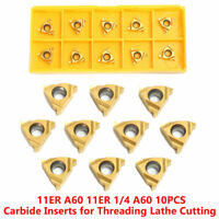 10Pcs 1/4'' 11ER A60 Carbide Inserts Lathe CNC Blade Thread Turning Tool Box