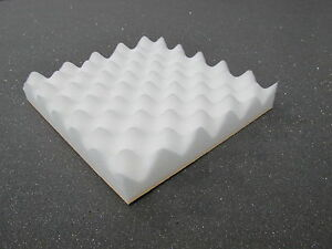 Acoustic Foam Tiles Self Adhesive Backed in white x 36 tiles (500MM X 500MM)
