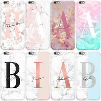 INITIALS PHONE CASE PERSONALISED MARBLE HARD COVER FOR SAMSUNG A3 A5 A7 A8 A9