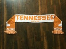 KNITTED orange and white CHECKERED TENNESSEE VOLUNTEERS SOCCER scarf