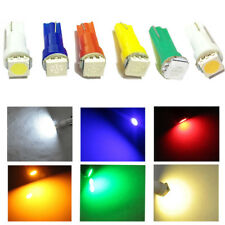 50x T5 Car Auto Light 5050 1SMD Wedge Dashboard Led White Red Blue Green Yellow