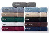 """2 Pack Plain 12x12 """" Cotton Bathroom Face Cloths Wash Cloths Towels Solid Colors"""