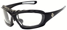Choppers Mens Foam Padded Outdoors Bikers Motorcycle Sunglasses - Clear C49
