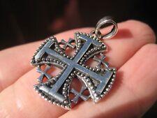925 Sterling Silver Jerusalem Cross Fivefold Cross Crusaders Cross Medal A14