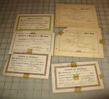 6 Early 1910s CERTIFICATE For FAITHFULNESS Sheet + Sunday School - St. Agnes