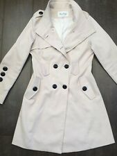 Max Mara M/L Beige Light Trench Coat Double Breasted