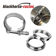 2.5'' Inch Stainless Steel V-Band Flange & Clamp Kit for Turbo Exhaust Downpipes