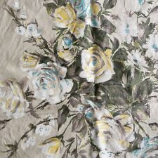 Vintage Floral Furnishing Fabric Pieces c.1950s - Satin