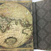 Nova Totius Terrarum Orbis Tubula Vintage Notebook Journal Unused Magnet Closure