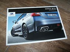 Catalogue / Brochure SUBARU WRX STI ACCESSOIRES / Accessories 2014 //