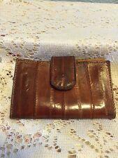 Vintage Buxton Eelskin Key case, Snap Closed