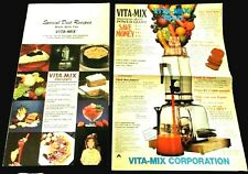 Vita - mix advertising and Special Diet Recipes kitchen blender lot Vitamix