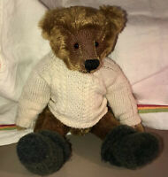 Vintage Handcrafted Mohair Hump Back Teddy Bear Fully Articulated