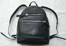 Mulberry Black Calf Leather Kenrick Chunky Zip Rucksack Backpack Bag Mens Unisex