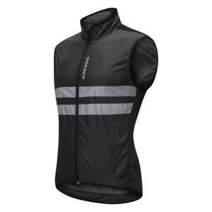 Reflective Bike Cycling Sleeveless Windproof Vest Running Sports Coat XL
