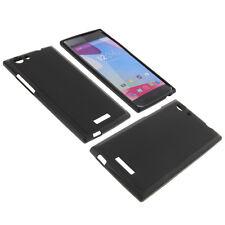 Funda para BLU Life One XL Teléfono Móvil Smartphone protectora tpu NEGRA