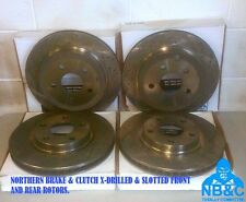 NBC FRONT & REAR X-DRILLED & SLOTTED ROTORS suit HOLDEN COMMODORE VE VF V6