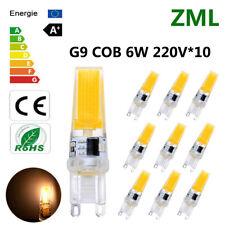 10xG9 LED Bulb 6WCOB Warm White Dimmable Energy Saving Light Super Bright AC220V