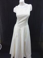 CHARISMA WOMENS IVORY SATIN WEDDING DRESS SIZE 10 BEAUTIFUL!