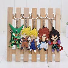 5PCS SET Dragon Ball Z Super Saiyan Son Goku Vegeta Keyrings Keychain Gift
