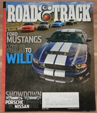 APRIL 2009 ROAD & TRACK MAGAZINE FORD MUSTANG, CAYMAN S vs NISSAN 370Z