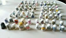 More details for 80 porcelain decorative thimbles display (mixed designers) in good conditio