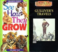 See How They Grow Vol. 2 & Gulliver's Travels - 2 VHS Tapes