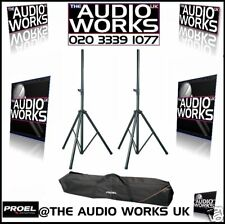 PAIR OF HEAVY DUTY SPEAKER STANDS & CARRY BAG 70KG !