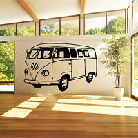 VW CAMPER VAN Vinyl Wall Art Sticker Decal bedroom living room study kitchen