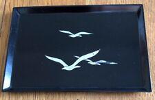 Vintage Otagiri Original Japan Handcrafted Flock of Iridescent Birds Tray