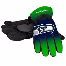 Seattle Seahawks Gloves Big Logo Gradient Insulated Winter NEW Unisex S/M L/XL