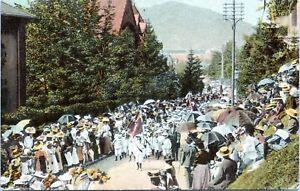 Greetings from St. Gallen Jugendfest Switzerland Childrens Parade 1910 Postcard