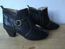 FOOT CUSHION LADIES BLACK LEATHER ANKLE BOOTS UK3 ()