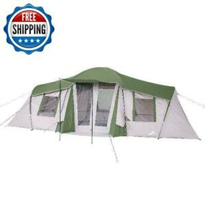 Family Cabin Tent 3-Season Camping Hiking Outdoor 10-Person 3-Room Waterproof