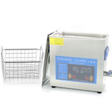 6L 180W Ultrasonic Cleaner Stainless Steel Jewelery Industry Tank Timer Heater