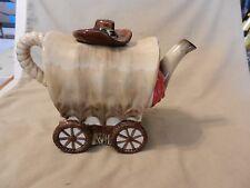 Old West Covered Wagon Ceramic Tea Pot, from Burton & Burton (M)